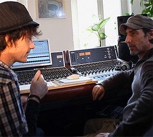 Ian.C and Pier Bucci recording in Berlin